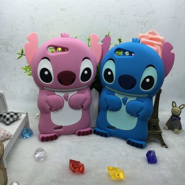 Hot Sale Fundas New Cute Stitch 3D Silicone Soft Cover Back Case For ZTE Blade D6 V6 Capa