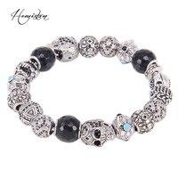 Hemiston Thomas Asia ETHNO Men Bracelet Totems Skull ETHNIC Beads, Karma Bracelet Rebel Heart Jewelry Men TS BK411