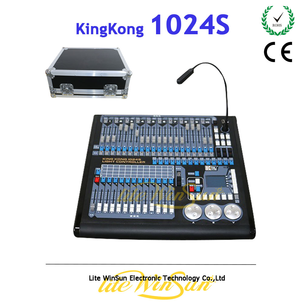 Litewinsune China New DMX Console 1024S Lighting Controller Pearl Console R20 Library Flight Case Free dmx512 digital display 24ch dmx address controller dc5v 24v each ch max 3a 8 groups rgb controller