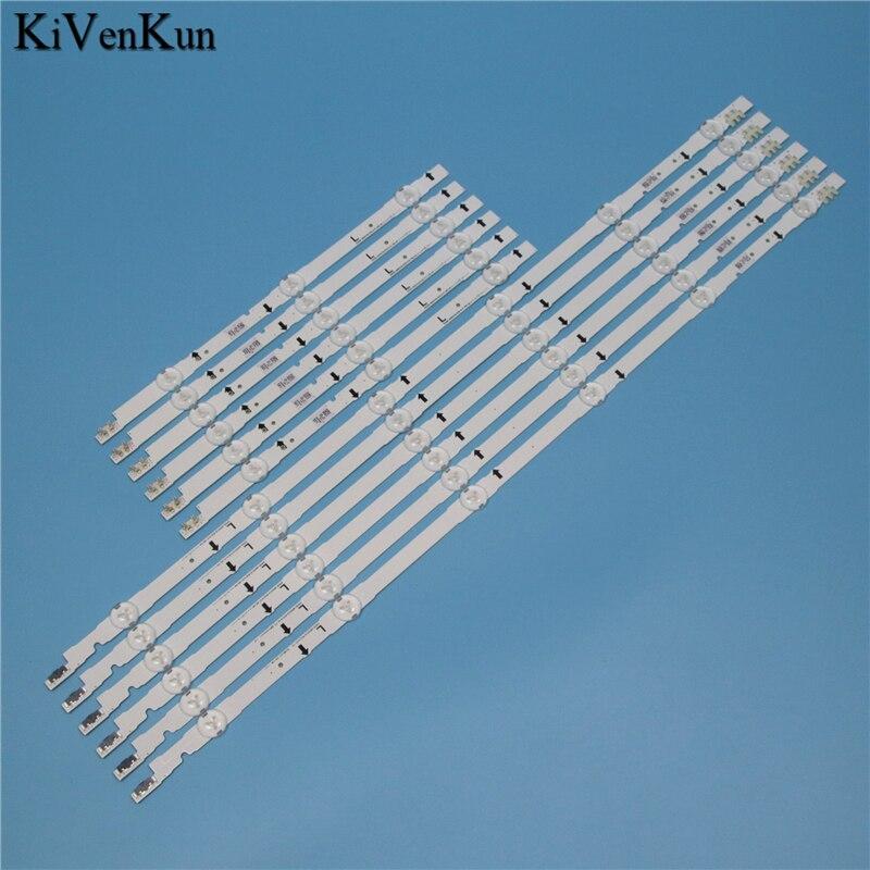 9 Lamps LED Backlight Strip For Samsung UE48H6650SL UE48H6670ST UE48H6670SL UE48H6650AT UE48H6670SZ Bars Kit Television LED Band