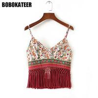 BOBOKATEER Crop Top Sexy Sleeveless Summer Tank Top Singlet Women Tops Mujer Cami Camisole Canotta Donna