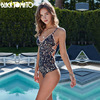 2017 Lace Floral Border One Piece Swimsuit Bathing Suit Swimwear Beachwear