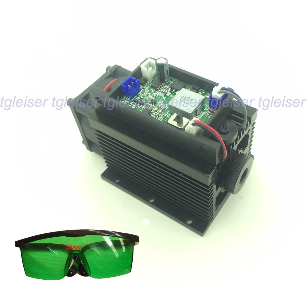 La puissance élevée 15 w Gravure Laser Module 445nm 450nm Bleu Tête Laser 15000 mw BRICOLAGE Marque sur Métal Coupeur de COMMANDE NUMÉRIQUE PAR ORDINATEUR machine