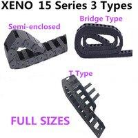15 Serie 15x15/20/30/40/50 Máquina de Grabado Accesorios de Cadena De Plástico de Ingeniería Cable