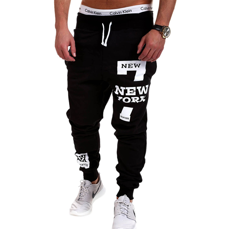 QINGYU Mens Joggers 2018 מותג מכנסיים גברים גברים מכנסיים מקרית מכנסיים סוודרים Jogger Black XXXL KDLB