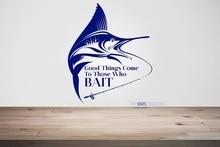 ديكور المنزل الفينيل الجدار ملصق مائي الصيد هواية جدارية هدية فريدة لصائق الداخلية خلفية 2KN13