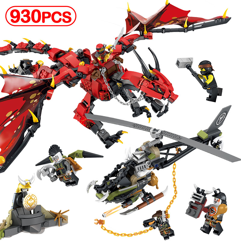 930pcs Movies Flame Spys God Dragon Building Blocks Compatible LegoINGlys Ninjago Knights Figures Arms For Kids Toys Gifts Sets