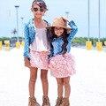 INS New girls skirt Plush Fluffy Skirt Baby Girl Skirt Princess Pink tassel Tutu Clothing kids Dance Ball Gown