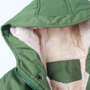 Image 5 - Meninos jaqueta de inverno adolescente cordeiro cashmere blusão bebê meninos roupas casuais criança topos 2 9 t engrossar casaco de veludo com capuz