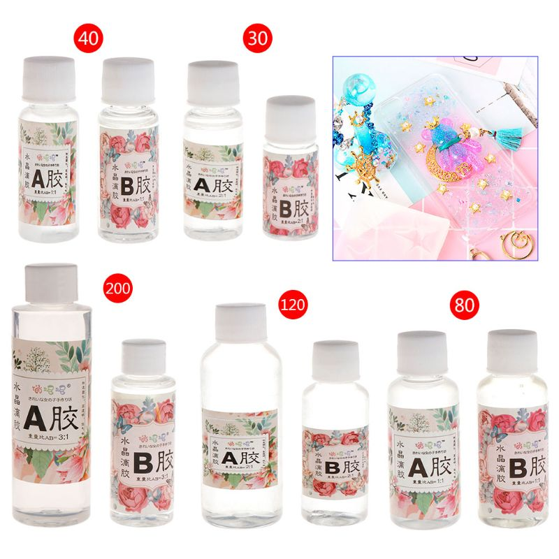 AB Glue Epoxy Resin Adhesive For DIY Jewelry Making Tools 30g/40g/80g/120g/200g Jewelry Tools & Equipments Hot