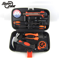 Super PDR Tools Household Hand Tool Set Home Repair Kit Claw Hammer Wire Pliers Cross Screwdrive