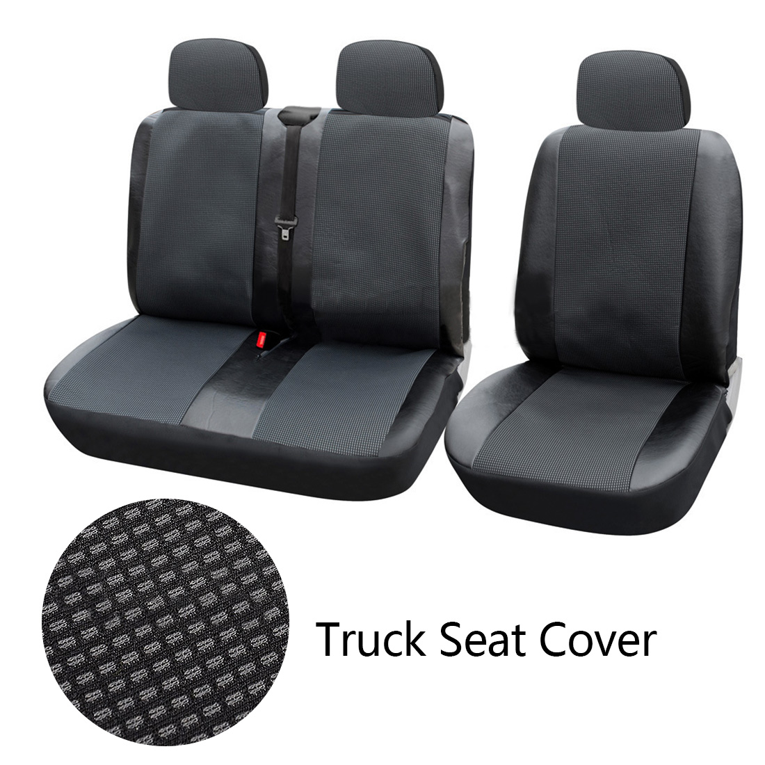 Dewtreetali 1+2 Seat Covers Car Seat Cover for Transporter/Van Universal Fit with Artificial LeatherTruck Interior AccessoriesDewtreetali 1+2 Seat Covers Car Seat Cover for Transporter/Van Universal Fit with Artificial LeatherTruck Interior Accessories