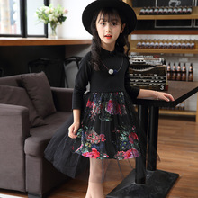 Princess Dresses Girls Floral Mesh Girls Dresses Long Sleeve Autumn Kids Dresses Teen Winter Costumes For Girls 4 6 8 12 Years все цены