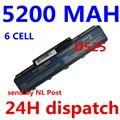 5200 mah 6 celdas de batería portátil para acer emachines e525 e627 e725 d525 d725 g620 g627 g725 e627-5019 as09a31 as09a41 as09a51
