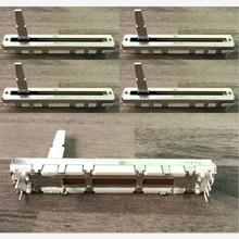 5pcs 60mm עבור פיוניר DJM 350 600 700 800 Push מדעך ישר שקופיות פוטנציומטר DJ מיקסר B10Kx2