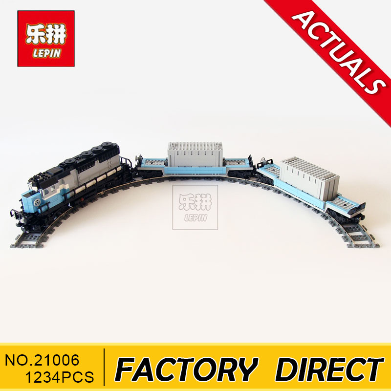 Lepin 21006 New 1234Pcs Genuine Technic Ultimate Series The Maersk Train Set Building Blocks Bricks Educational Toys 10219 visavis lf1012 белый
