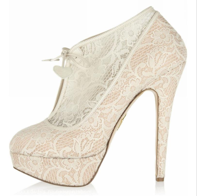 High Heels 2018 New Lace Lace High Heel Round Sexy Sandals Wedding Meat Color Mesh And Wedding Dress Shoes Ladies Buy One Give One