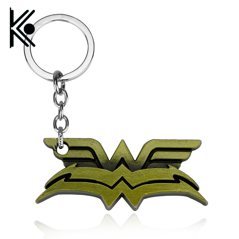 2017 New avengers jewelry Super hero Accessories Superhero Wonder Woman Keychains Key Ring 5.6x2.1cm Xmas Gifts
