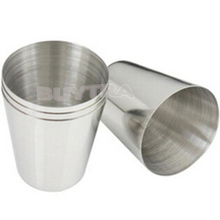 4Pcs 35ml Drinking Glass Stainless Steel Shot Glasses Cups Wine Beer Whiskey Mugs Outdoor Travel Cup