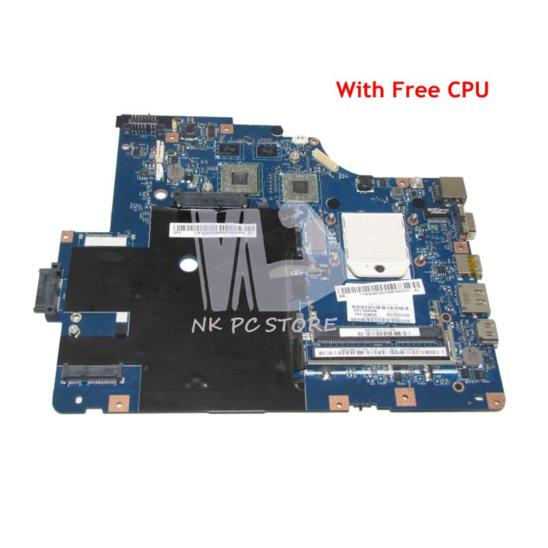 NOKOTION NAWE6 LA-5754P MAIN BOARD For Lenovo G565 Z565 Laptop Motherboard Socket S1 DDR3 Free CPU HD5340 Video Card la 5754p 11s69038329 main board for lenovo g565 z565 laptop motherboard ddr3 socket s1 with free cpu