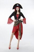 Halloween Frauen Pirate Kostüm Club Kleid Party Kostüme Für Erwachsene Captain Cosplay