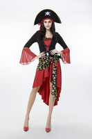 Halloween Women Pirate Costume Club Dress Party Costumes Adult Captain Cosplay