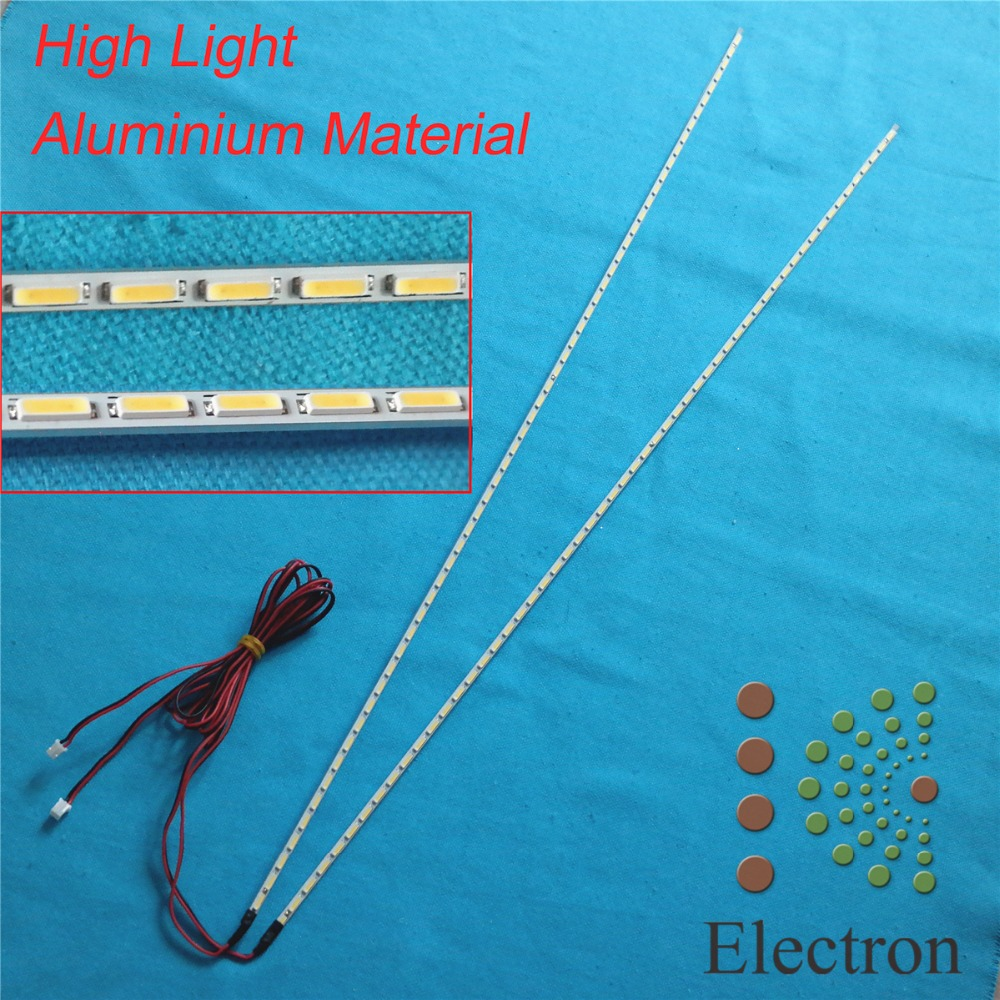 534mm LED Backlight Lamp Strip Aluminum Plate W/ Double-sided Adhesive 57 Leds For 47 Inch LCD Monitor High Light Free Shipping
