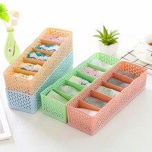 Buy Aprince  5 Grids Storage Basket Wardrobe Organizer Cosmetic Storage Box For Socks Underwear Tie Plastic Container Makeup Organiz directly from merchant!