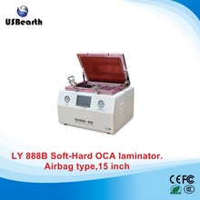 All in one Soft to Hard airbag type OCA lamination machine for 15 inch phone LCD refurbish with S6 S6+ S7 NOTE4 EDGE OCA moulds