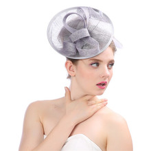b74f600c102 Hot Sale Hot Quality Lady Fascinator Elegant Yarn Mesh Fedoras Hair Clips Hat  Women Fedora For