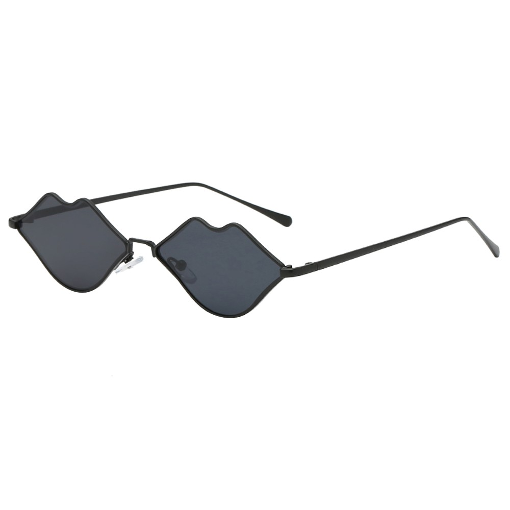 73d6eb156c 2018 New Women Man Fashion Summer Vintage Lips Irregular Shape Sunglasses  Eyewear Retro Unisex flat lens Sun Glasses Female A40