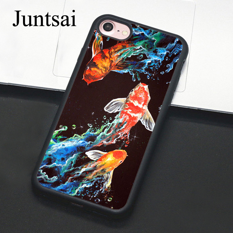 Fitted Cases Cellphones & Telecommunications Logical Juntsai Koi Carp Fish For Iphone 6 6s Plus Case Phone Cover Soft Tpu Back Cases For Iphone X 6s 7 8 Plus 5 5s Se Coque Suitable For Men And Women Of All Ages In All Seasons