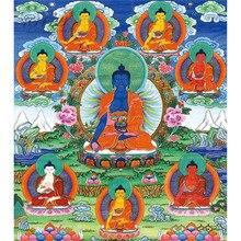 Michelangelo Puzzle Di Legno Di Puzzle Di Puzzle 500 Pezzi Medicina Buddha Bhaisajyaguru Buddista Tibetano Thangka Pittura di Arte FAI DA TE Oggetti Da Collezione
