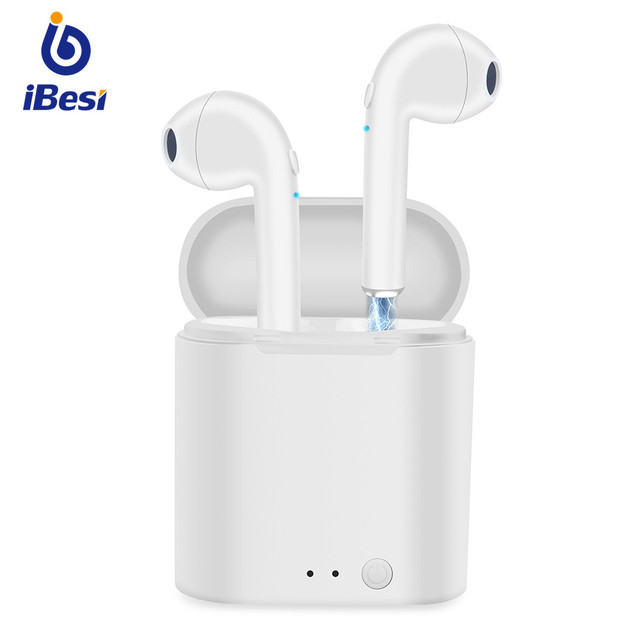 iBesi i7 i7s TWS Bluetooth Earphones Wireless Headphone Stereo Earbuds with Charging Box Mic for iPhone