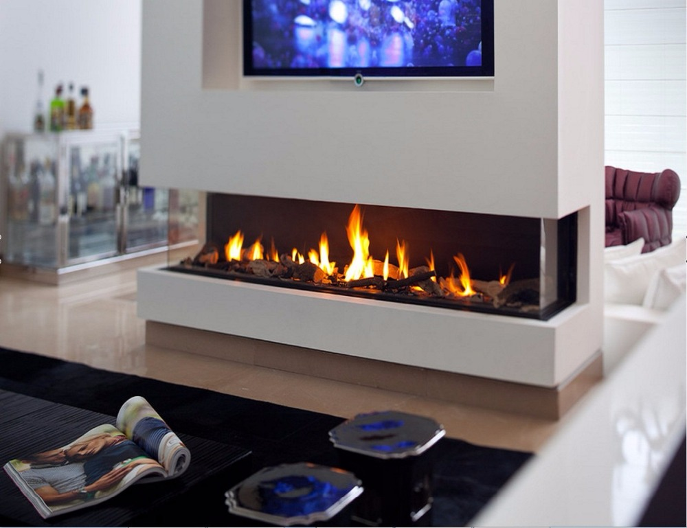 On Sale 48 Inch  Lareira Stainless Steel Bio Ethanol Fireplace