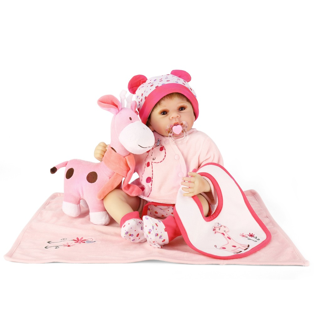 NPKCOLLECTION 50cm Silicone Reborn Baby Doll Kids Playmate Gift For Girls 22 Inch Baby Alive Soft Toys For Children Birthday