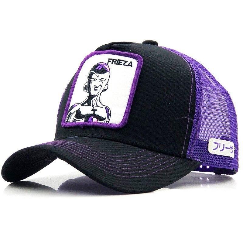 Gorras de malla para camionero Unisex, gorras de béisbol con estampado de dibujos animados, Goku, Snapback, Unisex