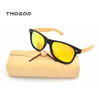 Wholesale Price Bamboo Polarized Lens Foot Sunglasses Men Wooden Sunglasses Women Brand Designer Original Wood Sun