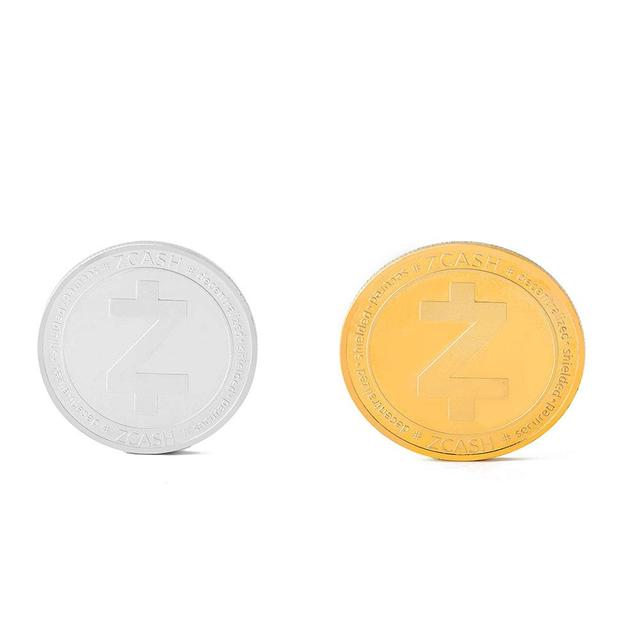 Zcash (ZEC) Bitcoin Embossed Three-dimensional Commemorative COINS Physical Gold Commemorative Coins Collection Gifts