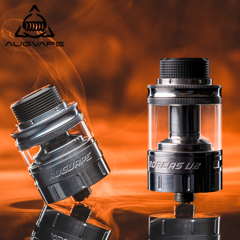 Augvape Boreas V2 RTA Atomizer 2.5ml 5ml Capacity Angled Upwords Airflow Chimney Tube Adapter Electronic Cigarette Atomizer Tank augvape merlin rta tank atomizer 23mm 4ml single coil deck dual airflow vape vaporizer electronic cigarette atomizer tank