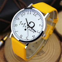 New Cute Girl Student Wristwatch Famous Brand Women Watches Ladies Female Clock Number Pattern Quartz Watch Relogio Feminino
