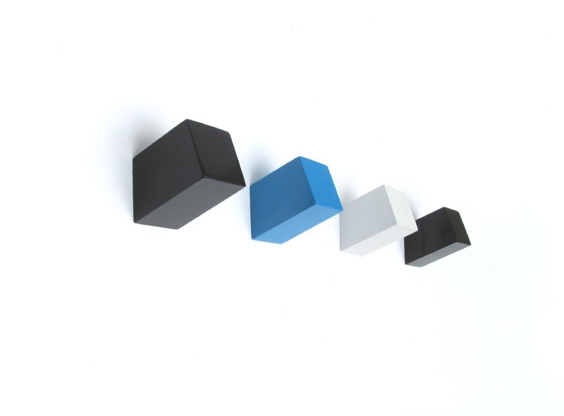 unid moderno pequeo moda columna cuadrada diseo scraft percha gancho de pared de madera para