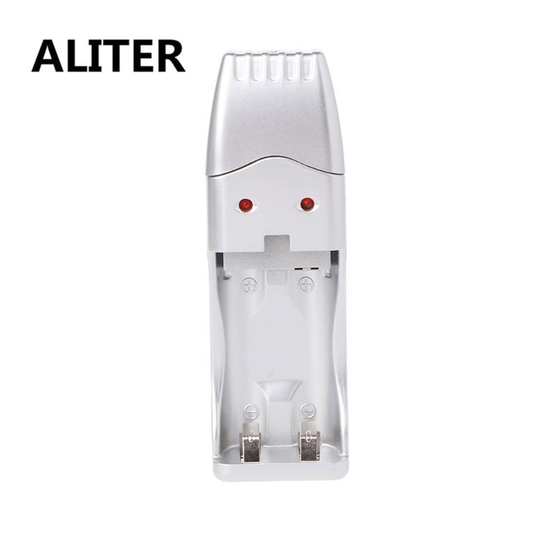 ALITER Dual-Slot AA/AAA Ni-MH Ni-Cd Rechargeable Battery Charger Adapter DC1.4V USB Plug