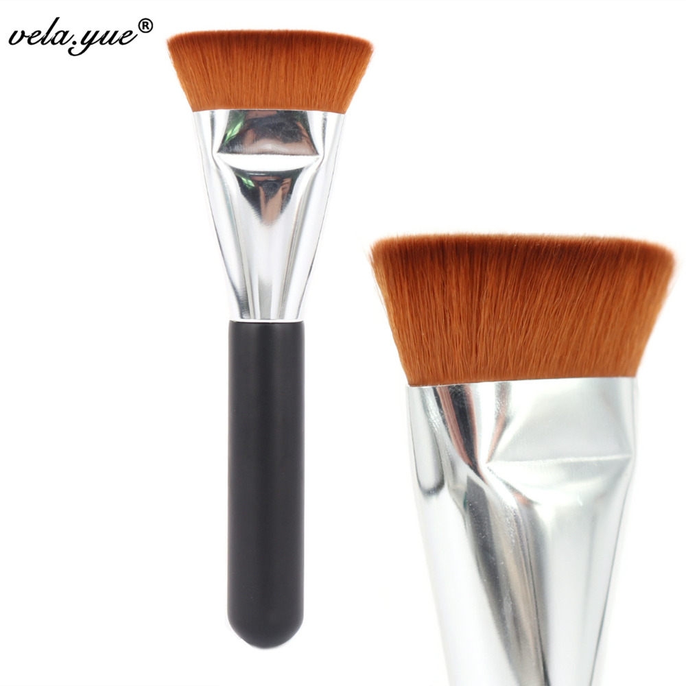 Professional 163 Flat Contour Brush Face Blending Blusher Makeup Brush mint flat contour makeup brush