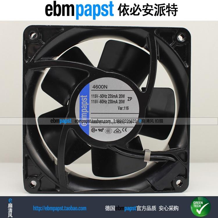ebmpapst 4600N AC 115V 20W 119x119x38mm Server Square fan ebmpapst 8800 n 8800n ac 115v 50 60hz 12 5w 11w 80x80x38mm server square fan