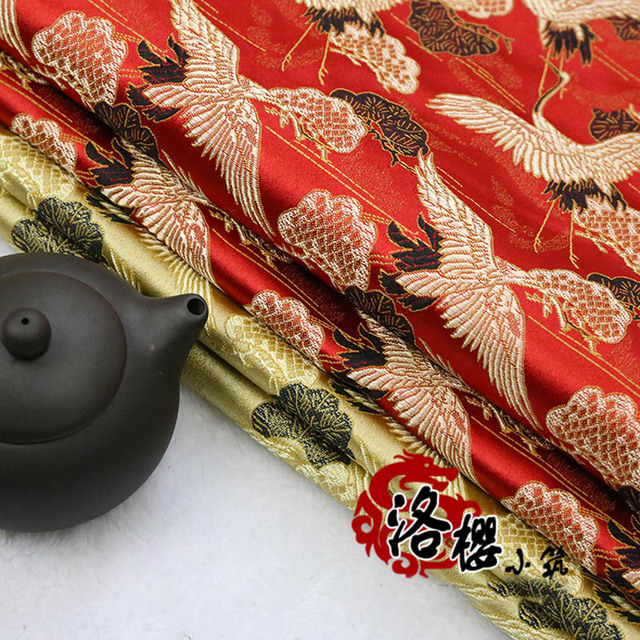 Woven damask jacquard silk satin mahogany cushion pillow chinese traditional style clothes brocade fabric