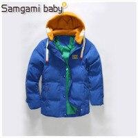 SAMGAMI BABY Einzelhandel 2017 Kinder Jacken Für Jungen Mädchen Winter Weiße Ente Daunenjacke Mäntel Kinder Mit Kapuze Parkas Kind Mantel