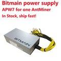 Originale 6PIN * 10 Bitmain Antminer APW7-12-1800, 1800 w di potenza di alimentazione BITMAIN APW3 Serie di PSU, ETH PSU, antminer S9 Z9 PSU, In Azione