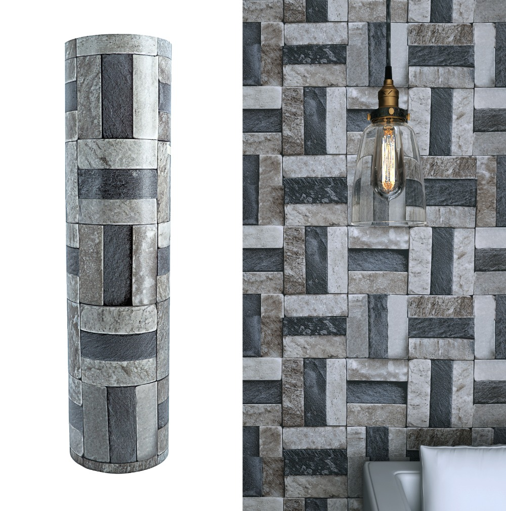 3D Gray Black Stone Wall Decorative Vinyl Self-adhesive Wallpaper Brick Waterproof Bathroom Kitchen Decals Sticker Contact Paper black dandelion wall sticker wallpaper page 3