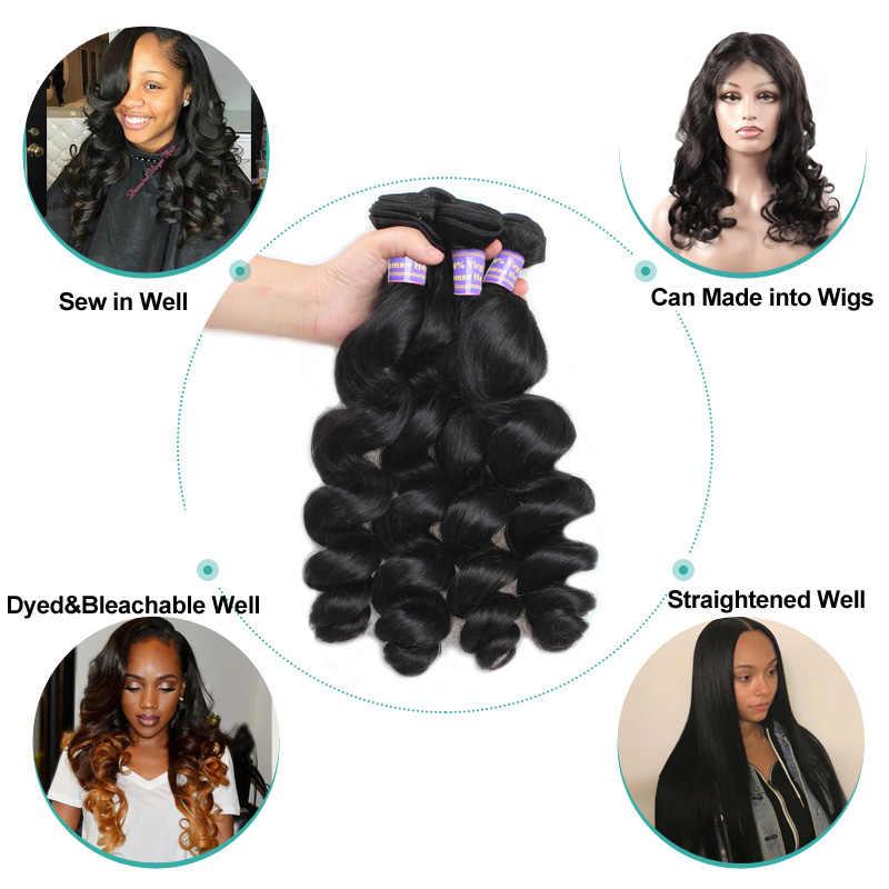 Allove malezya gevşek dalga saç paketler % 100% İnsan saç demetleri fırsatlar doğal renk olmayan Remy peruk demetleri saç örgü uzantıları